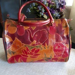 Pier1 leather satchel